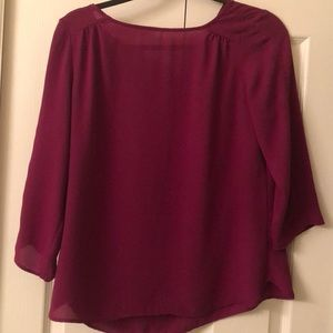 Purple Blouse 3/4 Sleeves